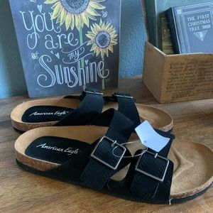 American Eagle By Payless Black Sandals